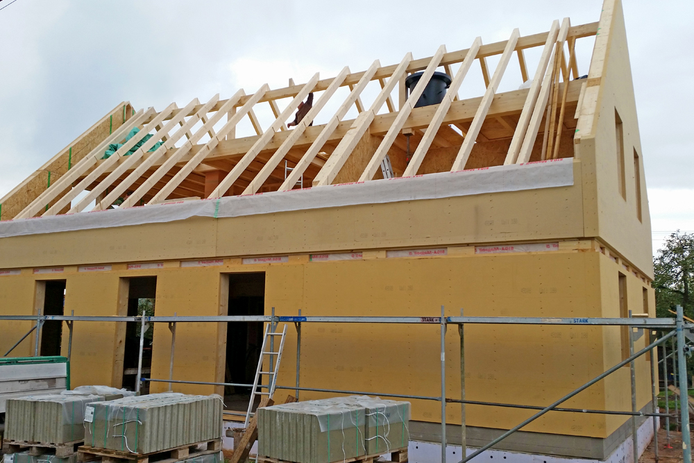 Holzhaus – Holzhausbau – Holzrahmenbau – Holzrahmenbauweise in ...